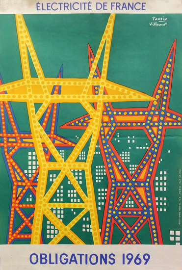 Emprunt Obligations 1969 Electricite De France (Green) 16x23