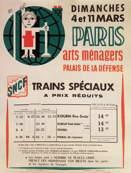 Arts Menagers  (SNCF Train Schedule15x20)