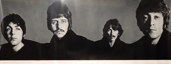 Beatles Richard Avedon Look Magazine insert Horizontal