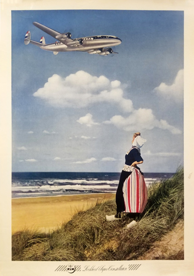KLM - Woman on the beach