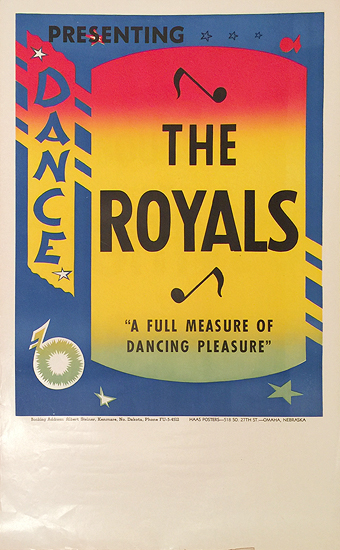 Rainbow Roll Band Poster The Royals