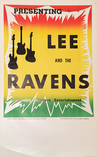 Rainbow Roll Band Poster Lee and the Ravens Country Western Entertainment