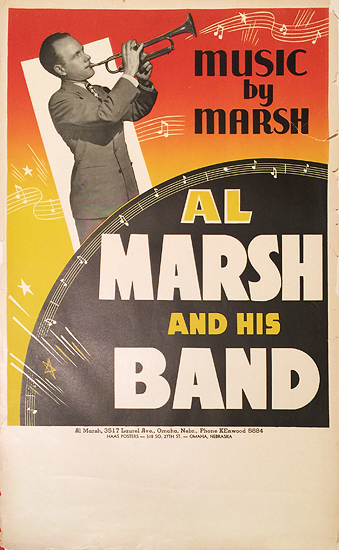 Rainbow Roll Band Poster Music by Marsh Al Marsh and His Band