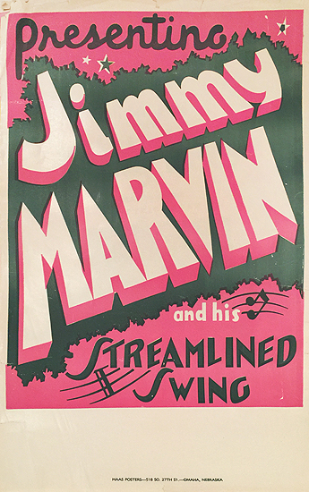 Presenting Jimmy Marvin and His Streamlined Swing