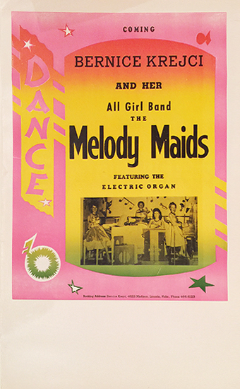 Rainbow Roll Band Poster Bernice Krejci and her all girl band the Melody Maids