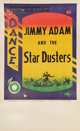 Rainbow Roll Band Poster Jimmy Adam and the Star Dusters