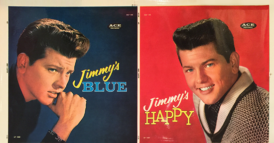 Jimmy's Blue, Jimmy's Happy (Jimmy Clanton Ace Records unmounted LP dust jacket)