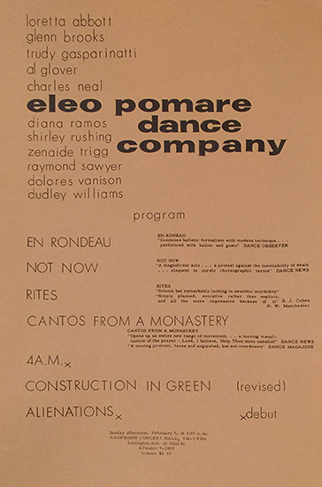 Eleo Pomare Dance Company (Program)