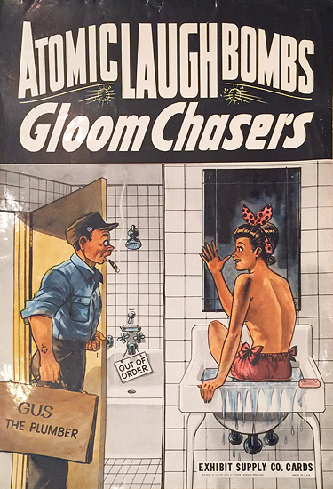 Atomic Laugh Bombs Gloom Chasers (Exhibit Supply Co. Cards/ Penny Arcade Card Poster)