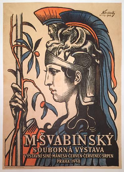 M. Svabinsky (Švabinský) Souborna Vystava Praha 1948