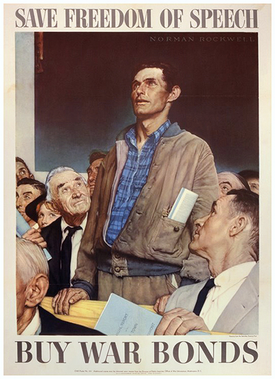Four Freedoms: Freedom of Speech - Large