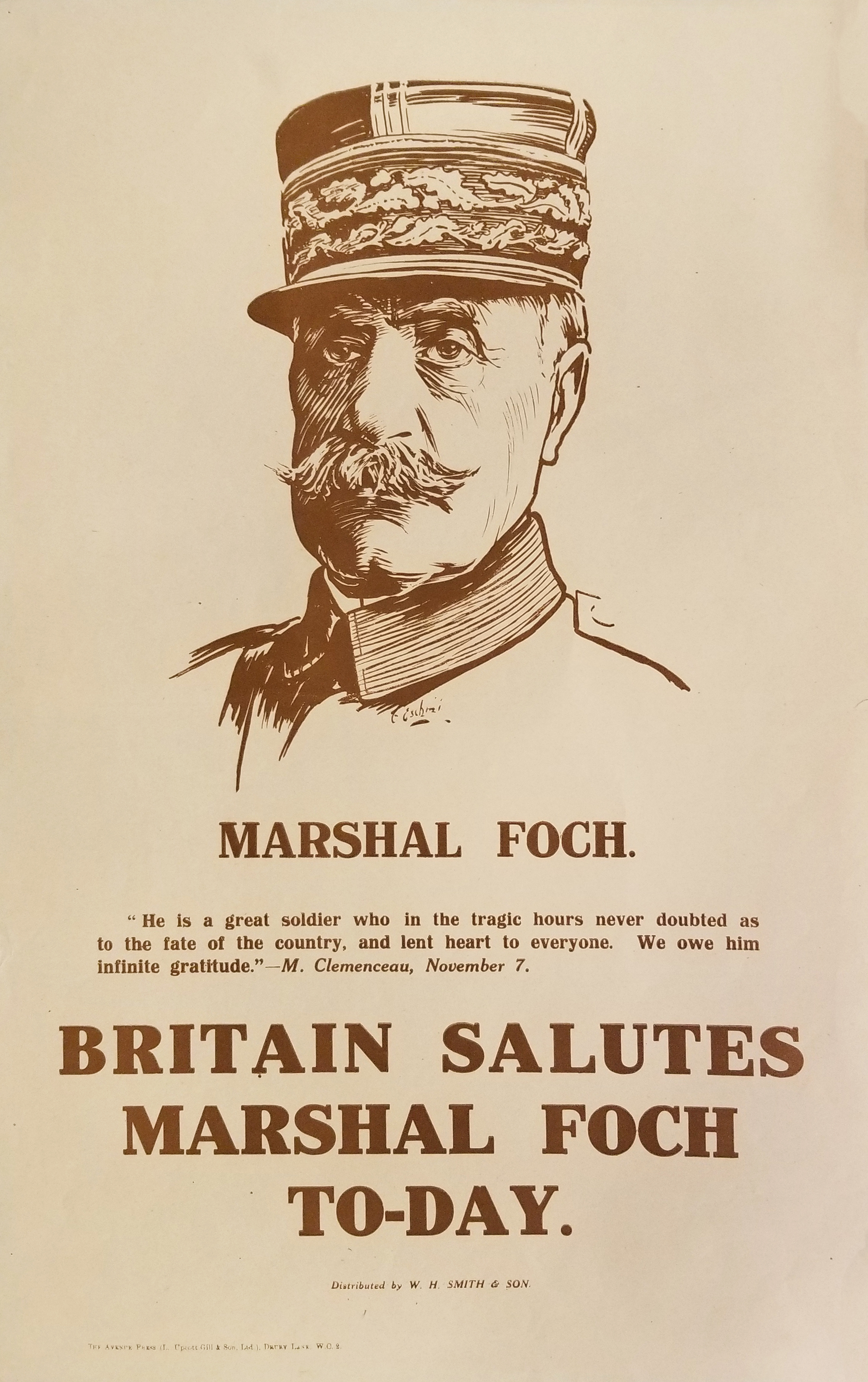 Britain Salute Marshal Foch To-day