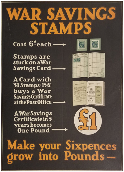 War Savings Stamps - Make your Sixpences grow into Pounds