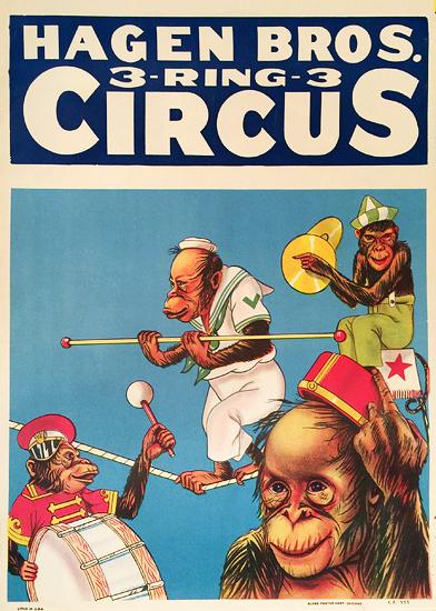 Hagen Bros 3 Ring Circus (Chimpanzees)