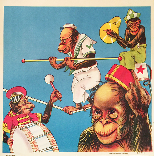 Hagen Bros 3 Ring Circus (Chimpanzees/ Cropped)