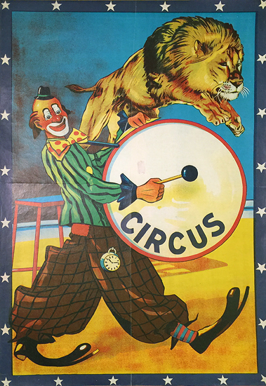 Circus (Clown Drummer and Lion)