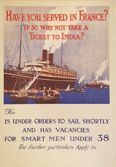 Have You Served in France? If So Why Not Take a Ticket to India?