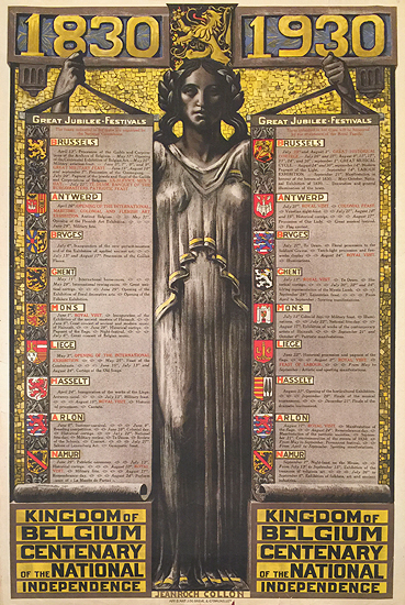 1830 -1930 Great Jubilee Festivals Kingdom of Belgium Centenary of the National Independence