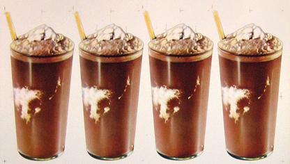 American Die Cut 4 Chocolate Milk Shakes