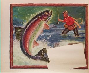 American Die Cut- Fisherman Menu (Single)