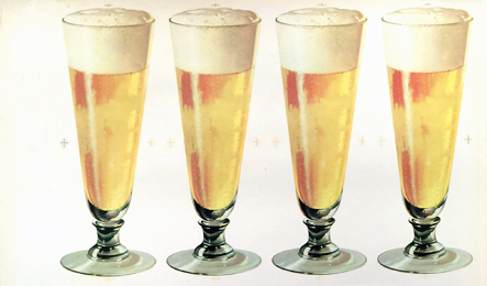 American Die Cut- Beer 4 Glasses (smaller format)