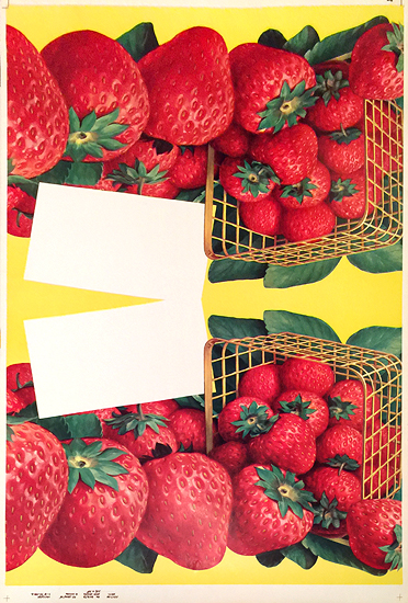 American Die Cut- Fruit Strawberry Baskets