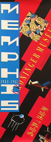 Memphis Group of Milan Exhibition Poster Groninger Museum (Red)