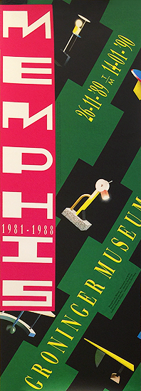 Memphis Group of Milan Exhibition Poster Groninger Museum (Green)