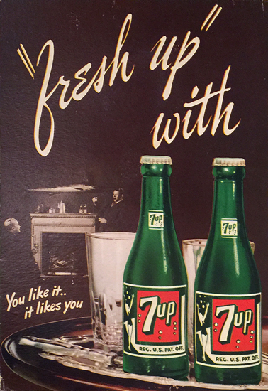 7up Fresh Up With 7up You like it it likes you (Brown)