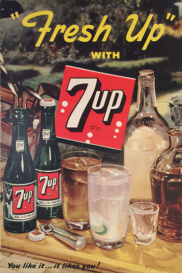 7up Fresh Up With 7up You like it it likes you (Bar)