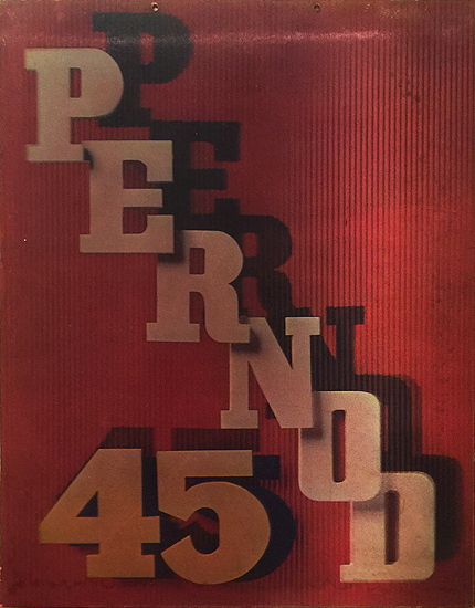 Pernod 45 (point of purchase display/ lenticular print)