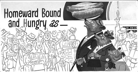 Mini Subway Car Card <br>No. 20 - Homeward Bound and Hungry As...