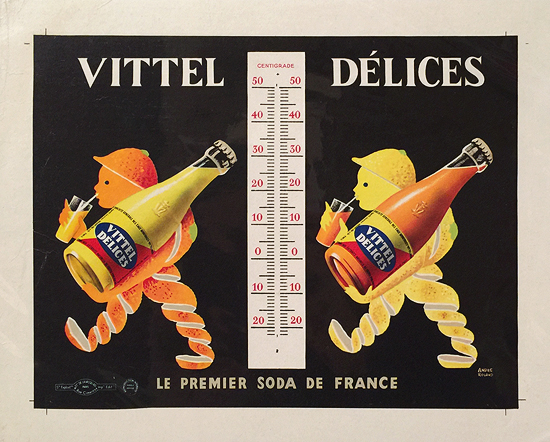 Vittel Delices (Small Format Thermometer)