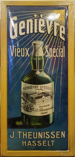 Genievre tin sign