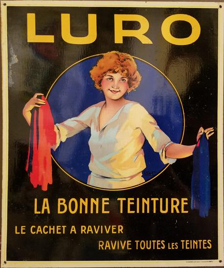 Luro Clothing Dye Tin Sign