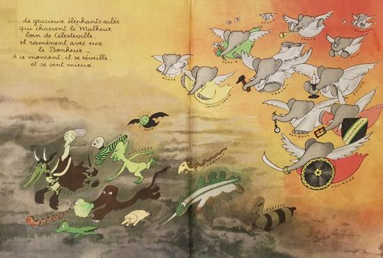 Babar Book Page Illustration Good and Bad