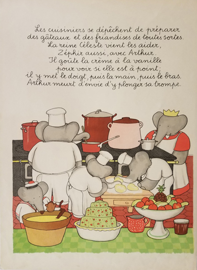 Babar Book Page Illustration - Bakers