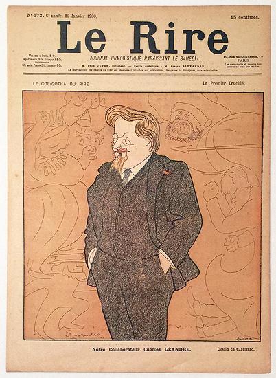 Le Rire Janvier 1900 Notre Collaborateur Charles Leandre