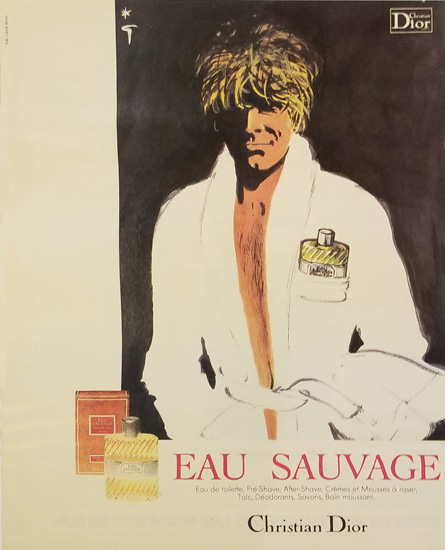 Magazine Ad- Sauvage Bathrobe Mirror