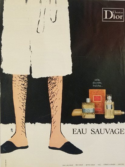 Magazine Ad- Sauvage Bathrobe Legs
