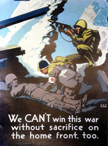 We can't win this war without sacrifice.