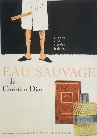 Magazine Ad- Sauvage Bathrobe
