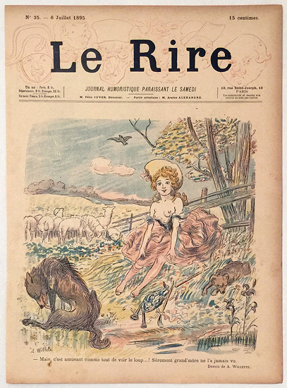 Le Rire (Bo Peep and Wolves, Juillet 1895)