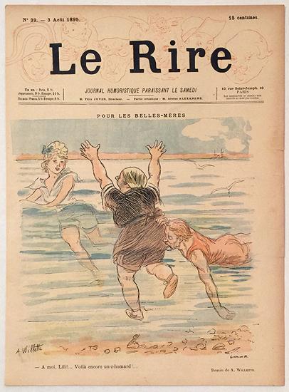 Le Rire (Pour Les Belles-Meres, Homard, Aout 1895)